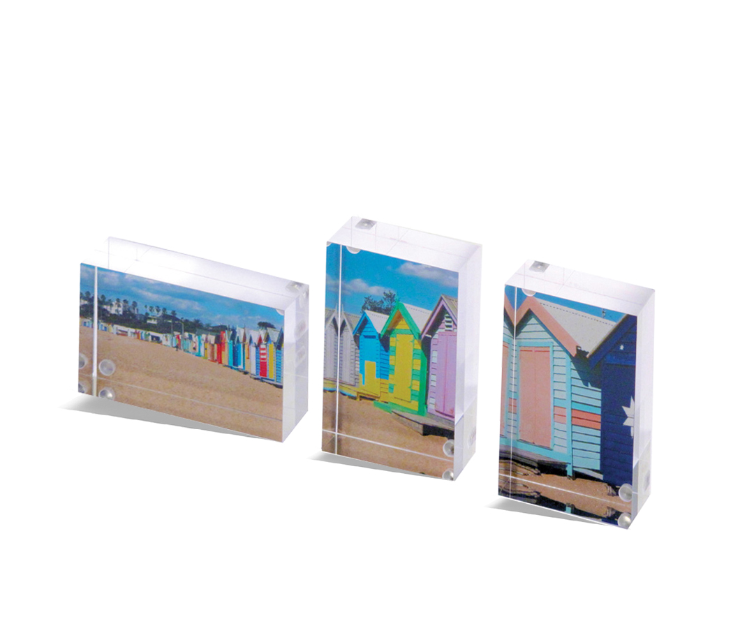 VisionBlox Classic Size - Mini Acrylic Photo Block