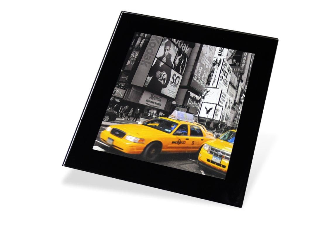 Adventa Premium Glass Photo Coaster