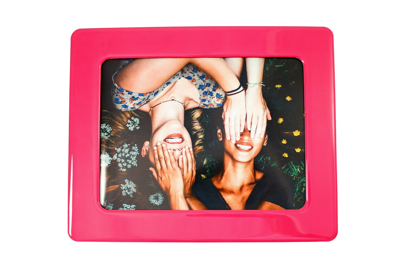 "Pink Photo Fridge Magnet 6 x 8"""