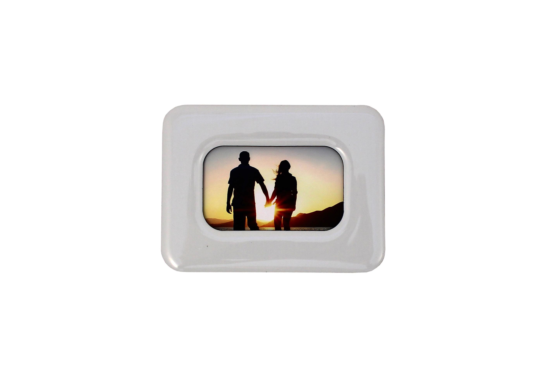 White Photo Fridge Magnet