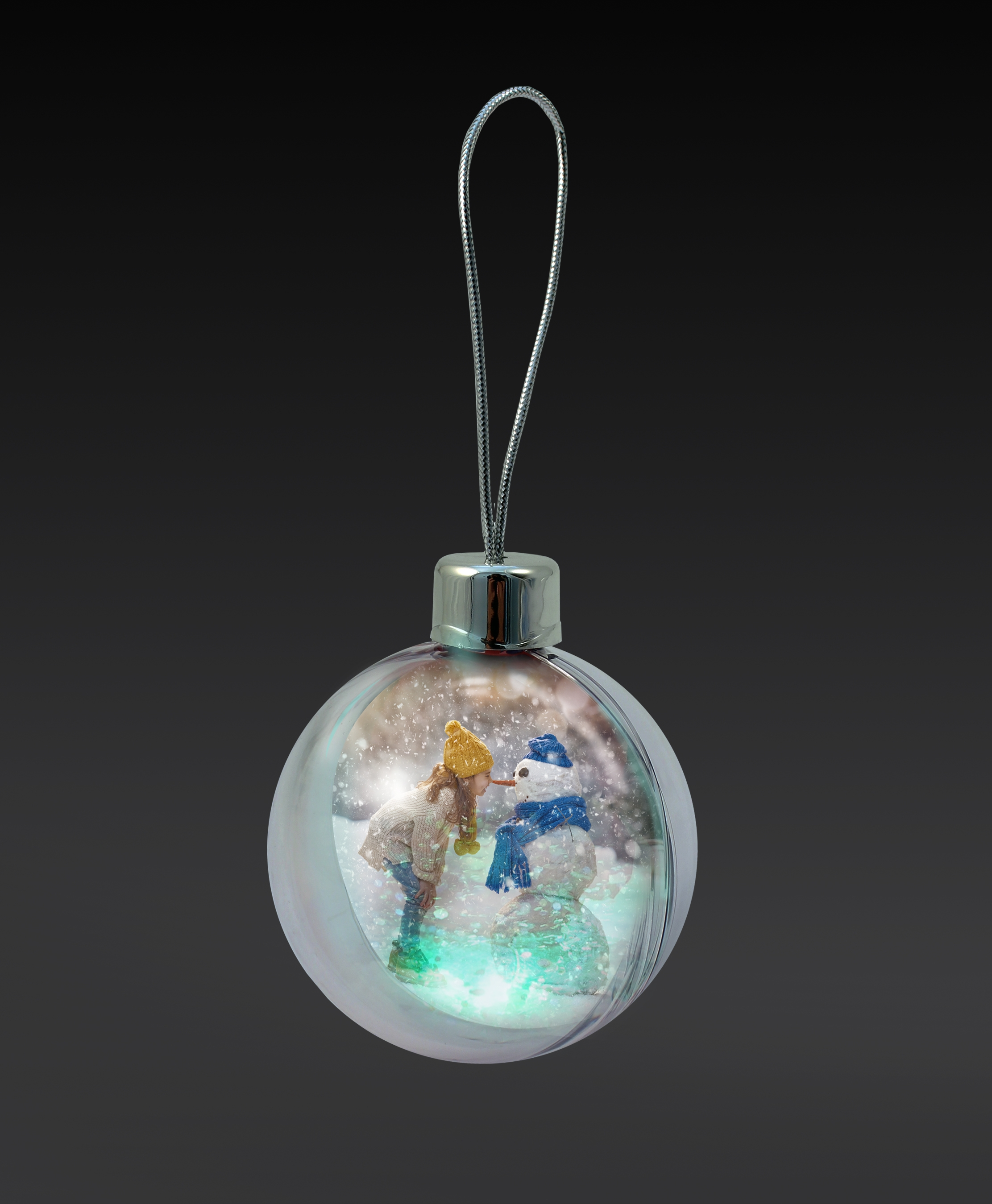 Light-Up Photo Bauble Cap