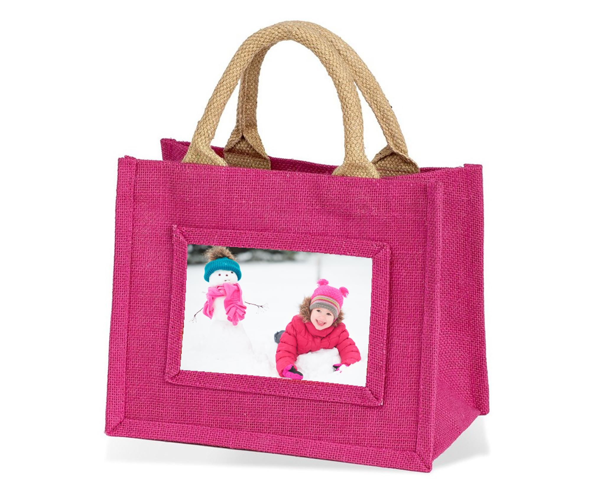 Jute Bag Mini Pink